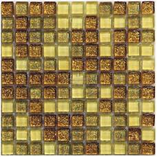 МОЗАИКА MOZAICO DE LUX M-MOS MSDF-8002(L) GOLD2-1 / 300х300х8 мм