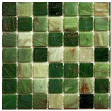 МОЗАИКА MOZAICO DE LUX R-MOS 20GN4041424344 GREEN MIX / 327х327х4 мм