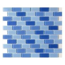 МОЗАИКА MOZAICO DE LUX S-MOS HT 156 MIX C BLUE / 300х300х4 мм