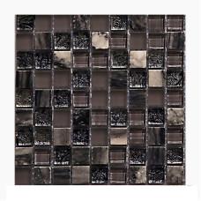 МОЗАИКА MOZAICO DE LUX T-MOS DF02+G04+MARBLE (L) / 300х300х8 мм
