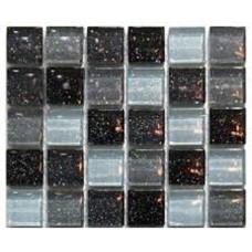 МОЗАИКА MOZAICO DE LUX T-MOS M01 BLACK/WHITE/GRAY / 300х300х6 мм