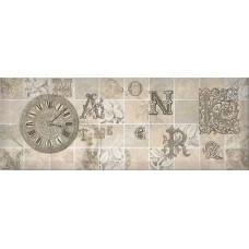 Antica декор серый №3 / 15х40 см