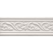 Arabesco бордюр широкий белый / 8х23 см