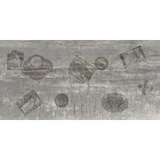Castello декор/пол серый (ректификат) / 30х60 см