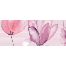 Flora декор розовый / 20х50 см