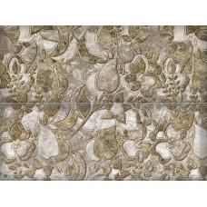 Salisbury декор панно серый / 15х40 см