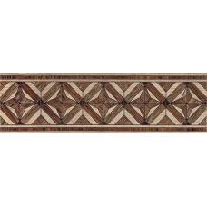 Massima бордюр напольный коричневый / 15x50 см