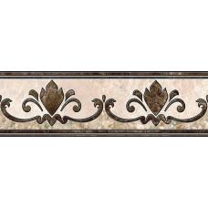 Emperador бордюр напольный коричневый / 13,7x43 см