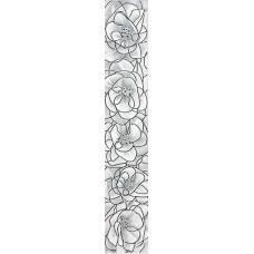 Brina бордюр вертикальный серый / 7x40 см