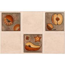 Lucia декор светлый бежевый №2 / 23x35 см