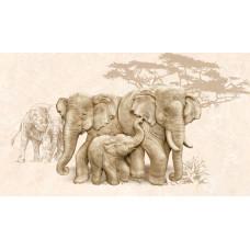 Safari декор коричневый / 23x40 см