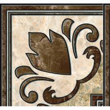 Emperador декор напольный коричневый / 13,7x13,7 см