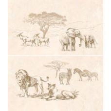 Safari декор-панно коричневый / 46x40 см
