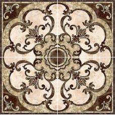 Emperador панно напольное коричневое / 86x86 см