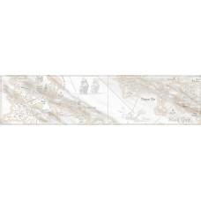 Carrara бордюр напольный серый / 15х60 см