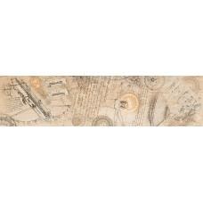 Woodline бордюр напольный бежевый / 15х60 см