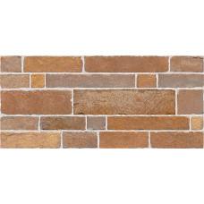 Brick стена красно-коричневая / 23х50 см